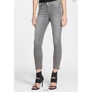 Helmut Lang Ankle Zip Grey Skinny Denim Jeans